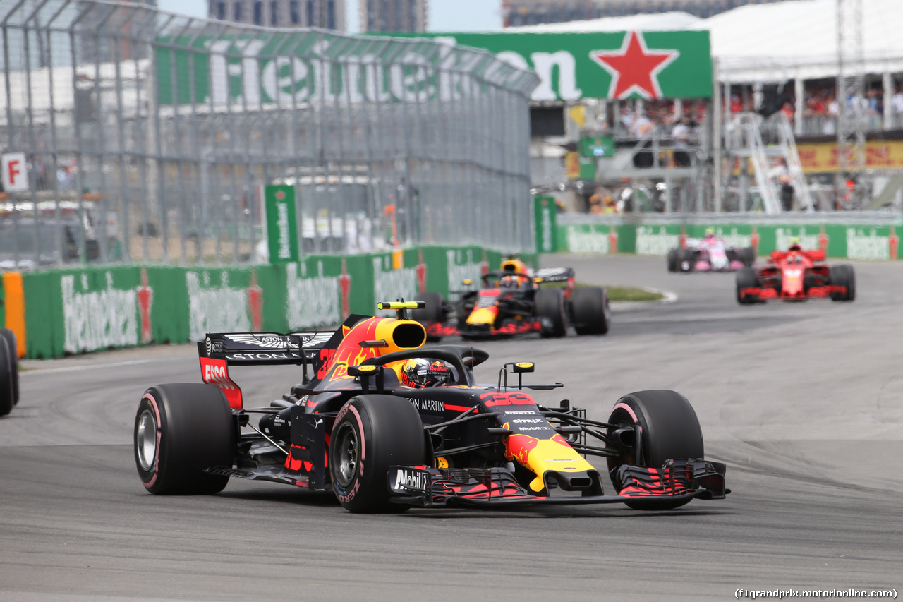 GP CANADA, 10.06.2018- Gara, Max Verstappen (NED) Red Bull Racing RB14