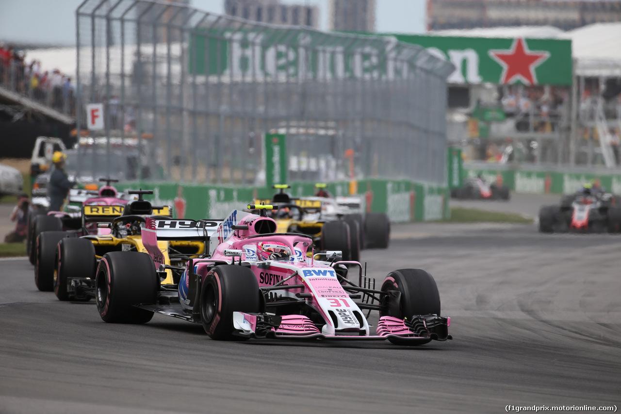 GP CANADA, 10.06.2018- Gara, Esteban Ocon (FRA) Sahara Force India F1 VJM11
