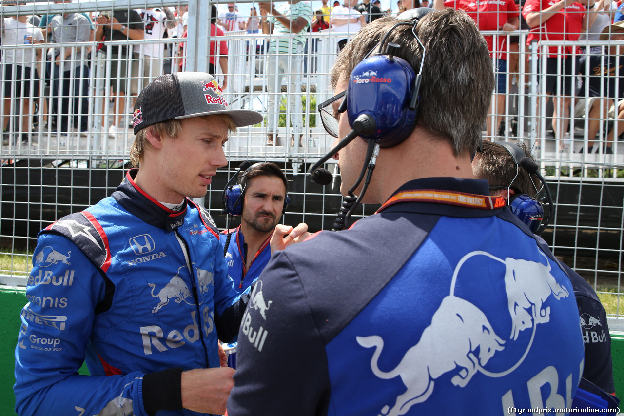 GP CANADA, 10.06.2018- Gara, the partenzaing grid: Brendon Hartley (FRA) Scuderia Toro Rosso STR13
