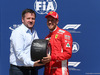 GP CANADA, 09.06.2018- Pirelli Award for Pole Position to Sebastian Vettel (GER) Ferrari SF71H with Paul Hembery (GBR)