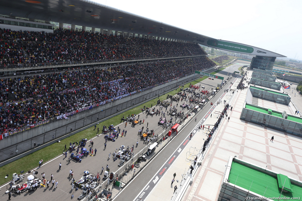 GP CINA, 15.04.2018- The Starting grid