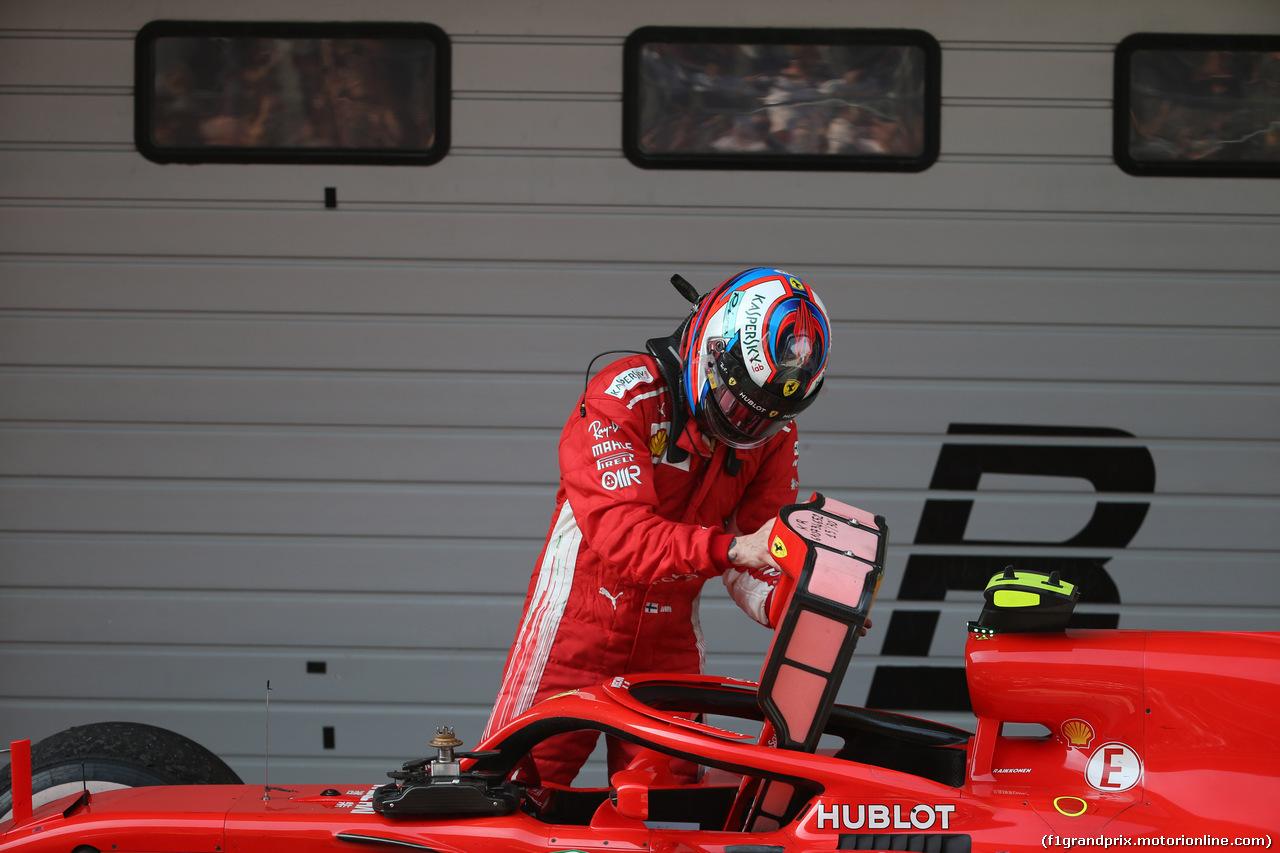 GP CINA, 15.04.2018- Parc ferme, Kimi Raikkonen (FIN) Ferrari SF71H