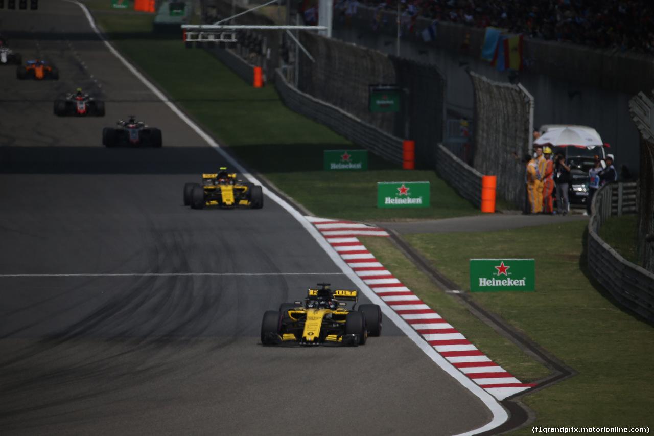 GP CINA, 15.04.2018- Gara, Nico Hulkenberg (GER) Renault Sport F1 Team RS18
