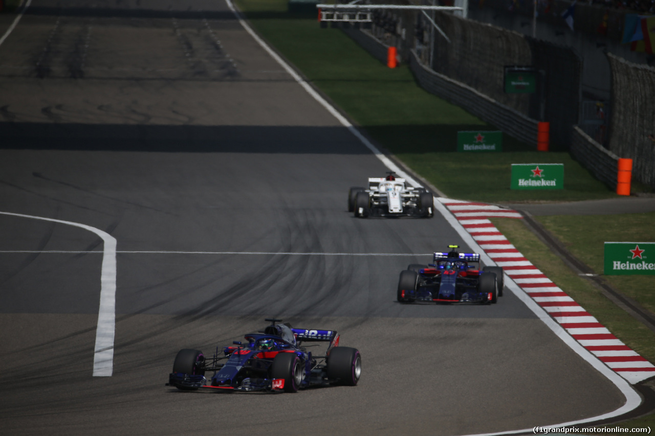 GP CINA, 15.04.2018- Gara, Brendon Hartley (FRA) Scuderia Toro Rosso STR13