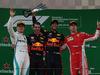 GP CINA, 15.04.2018- Podium, winner Daniel Ricciardo (AUS) Red Bull Racing RB14, 2nd Valtteri Bottas (FIN) Mercedes AMG F1 W09, 3rd Kimi Raikkonen (FIN) Ferrari SF71H