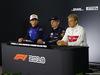 GP CINA, 12.04.2018- Giovedi' Press Conference, L to R Pierre Gasly (FRA) Scuderia Toro Rosso STR13, Max Verstappen (NED) Red Bull Racing RB14 e Marcus Ericsson (SUE) Alfa Romeo Sauber C37