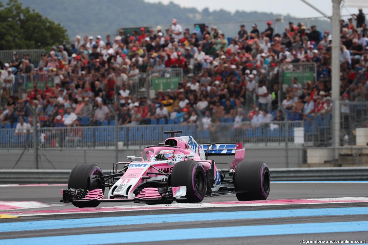 GP FRANCIA, 23.06.2018- Qualifiche, Sergio Perez (MEX) Sahara Force India F1 VJM11