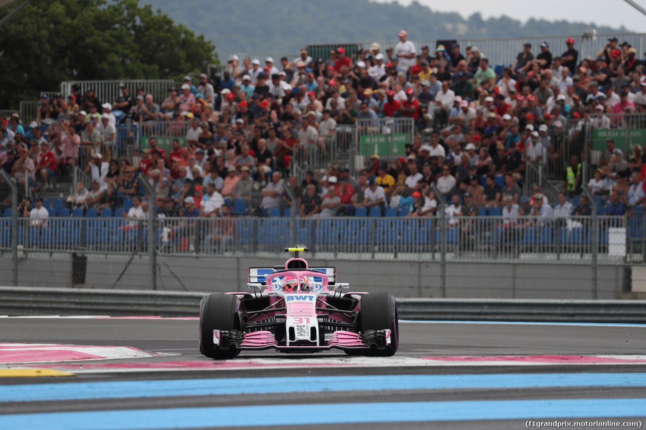 GP FRANCIA, 23.06.2018- Qualifiche, Esteban Ocon (FRA) Sahara Force India F1 VJM11