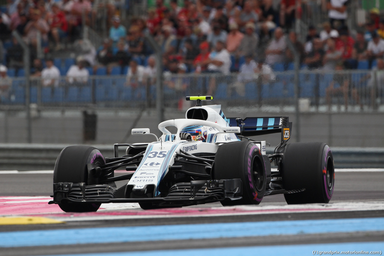 GP FRANCIA, 23.06.2018- Qualifiche, Sergej Sirotkin (RUS) Williams F1 Team FW41