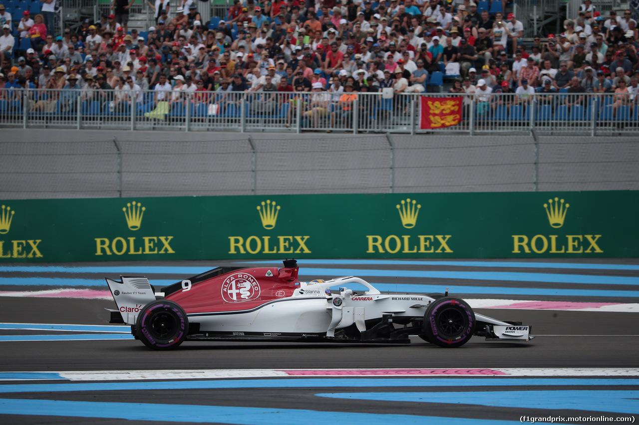 GP FRANCIA, 23.06.2018- Qualifiche, Marcus Ericsson (SUE) Alfa Romeo Sauber C37