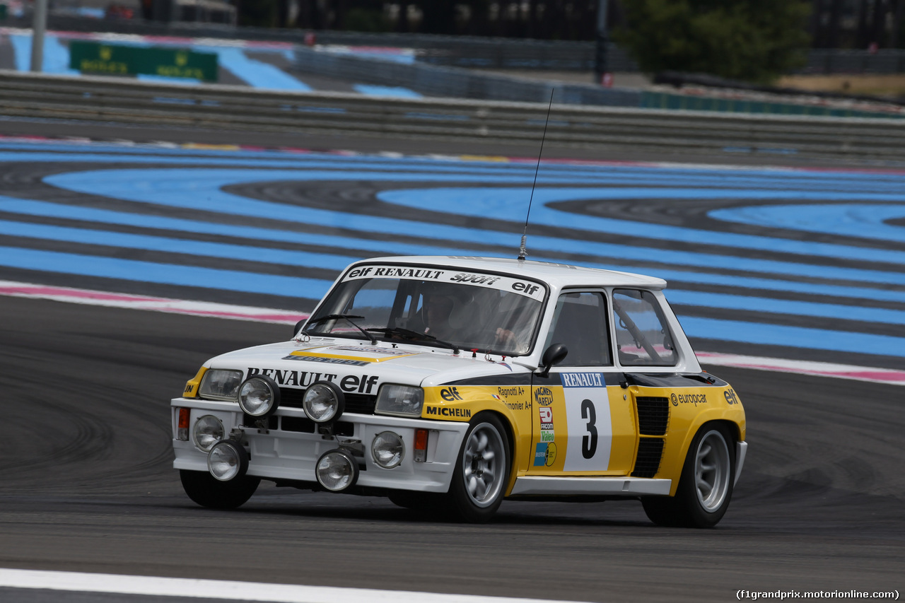 GP FRANCIA, 24.06.2018- Renault Historic Car Parade