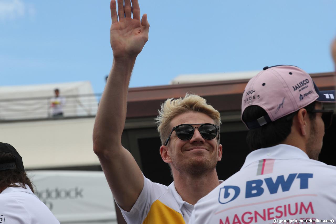 GP FRANCIA, 24.06.2018- Driver Parade, Nico Hulkenberg (GER) Renault Sport F1 Team RS18