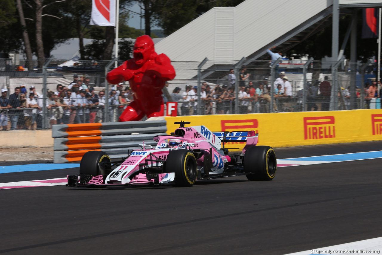 GP FRANCIA, 24.06.2018- Gara, Sergio Perez (MEX) Sahara Force India F1 VJM11