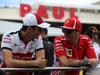 GP FRANCIA, 24.06.2018- Driver Parade, Kimi Raikkonen (FIN) Ferrari SF71H with Charles Leclerc (GER) Alfa Romeo Sauber C37