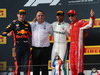 GP FRANCIA, 24.06.2018- podium, winner Lewis Hamilton (GBR) Mercedes AMG F1 W09 , 2nd place  Max Verstappen (NED) Red Bull Racing RB14 3rd place Kimi Raikkonen (FIN) Ferrari SF71H
