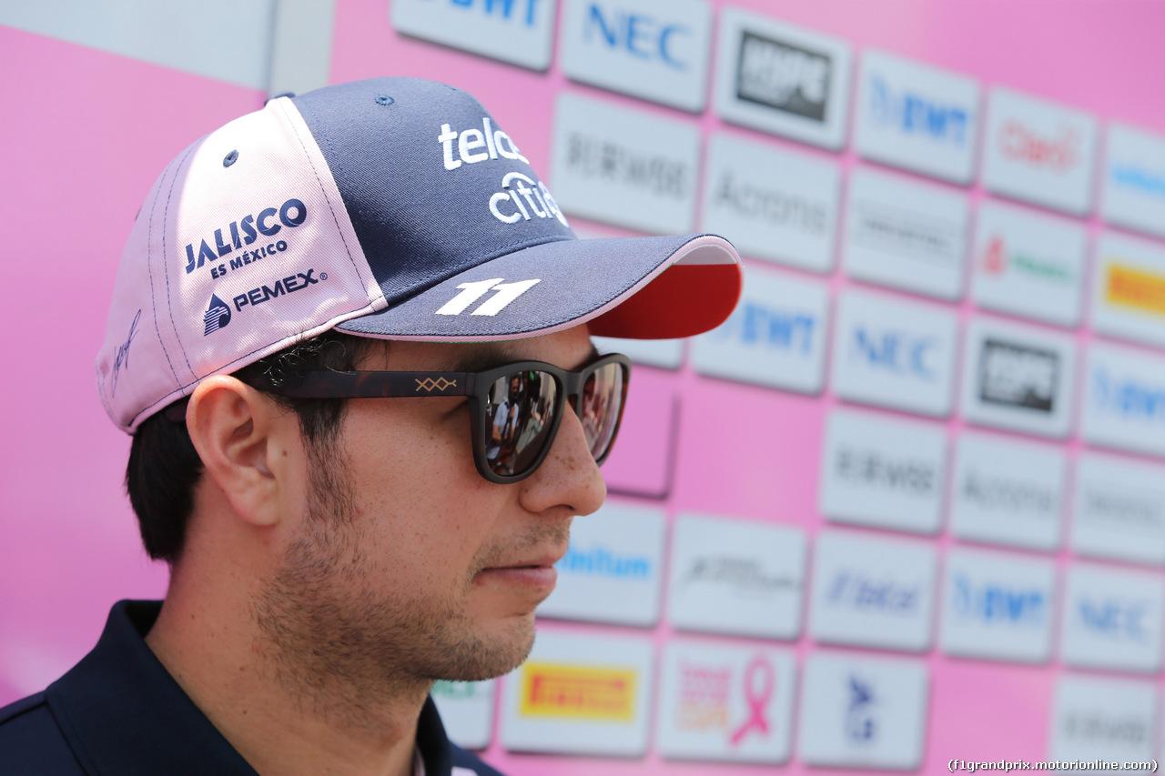 GP FRANCIA, 21.06.2018- Sergio Perez (MEX) Sahara Force India F1 VJM11