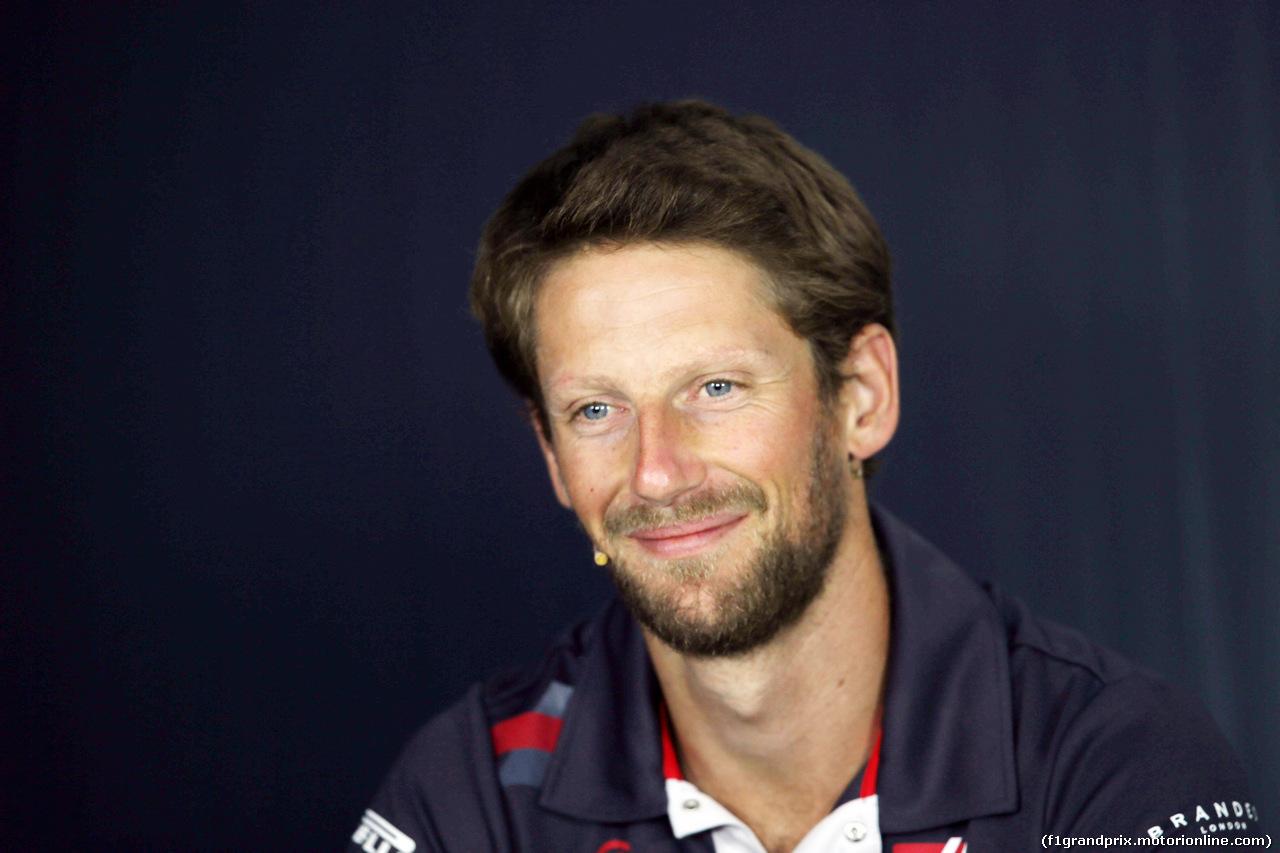 GP FRANCIA, 21.06.2018- Giovedi' Official Fia press conference, Romain Grosjean (FRA) Haas F1 Team VF-18