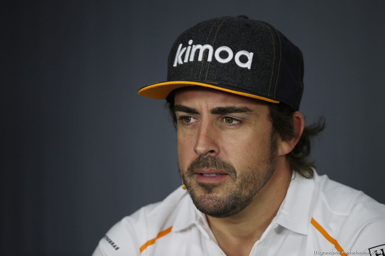 GP FRANCIA, 21.06.2018- Giovedi' Official Fia press conference,  Fernando Alonso (ESP) McLaren Renault MCL33