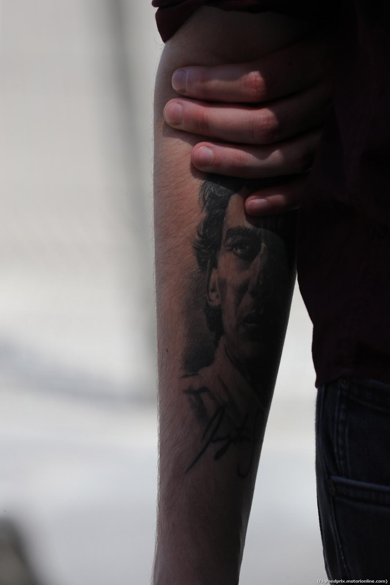 GP FRANCIA, 21.06.2018- Ayrton Senna Tattoo