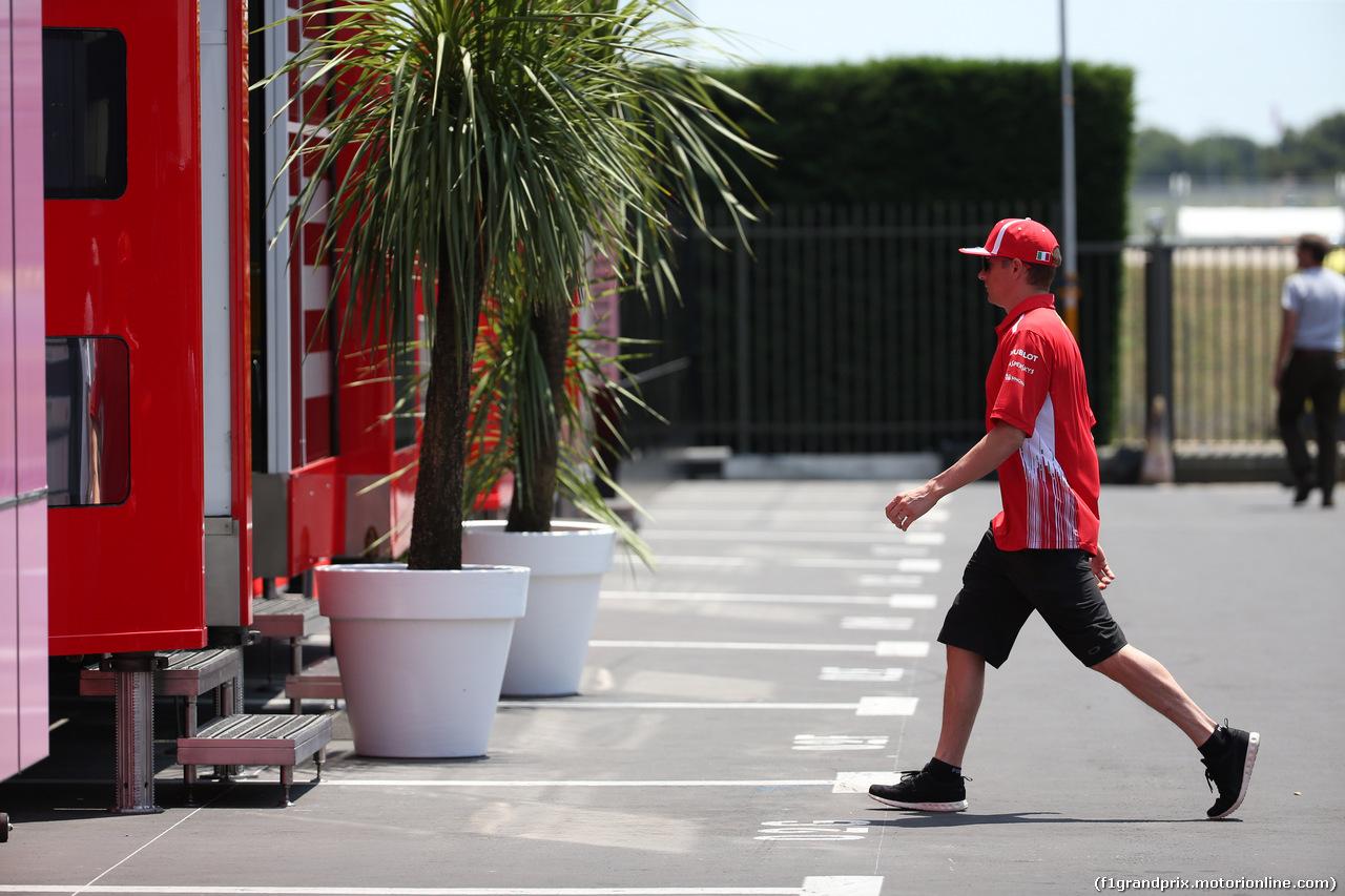 GP FRANCIA, 21.06.2018- Kimi Raikkonen (FIN) Ferrari SF71H