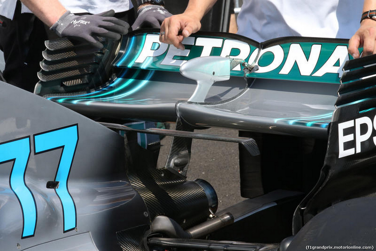 GP FRANCIA, 21.06.2018- Mercedes AMG F1 W09 Rear Wing