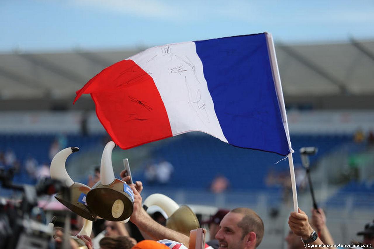GP FRANCIA, 21.06.2018- Atmosfera: french flag