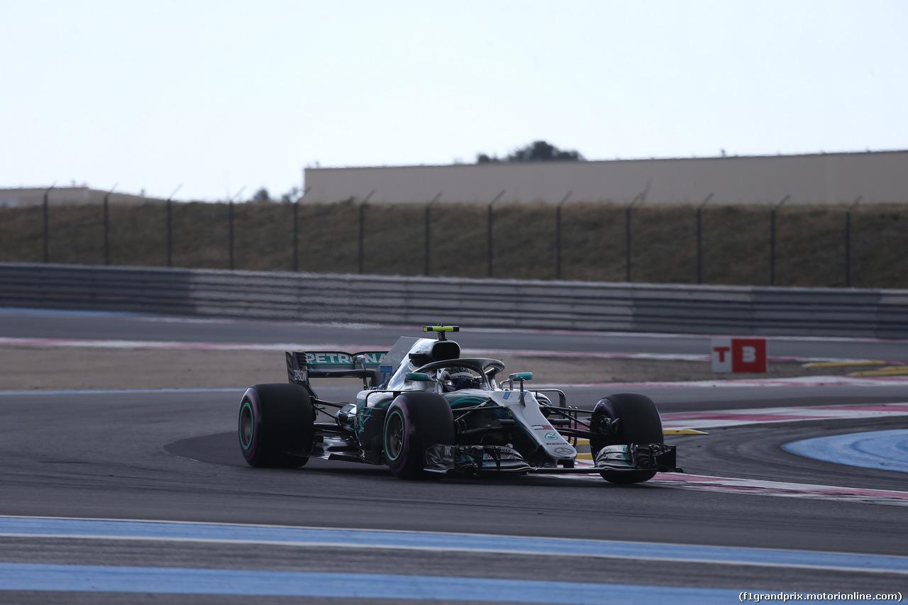 GP FRANCIA, 23.06.2018- Prove Libere 3,  Valtteri Bottas (FIN) Mercedes AMG F1 W09