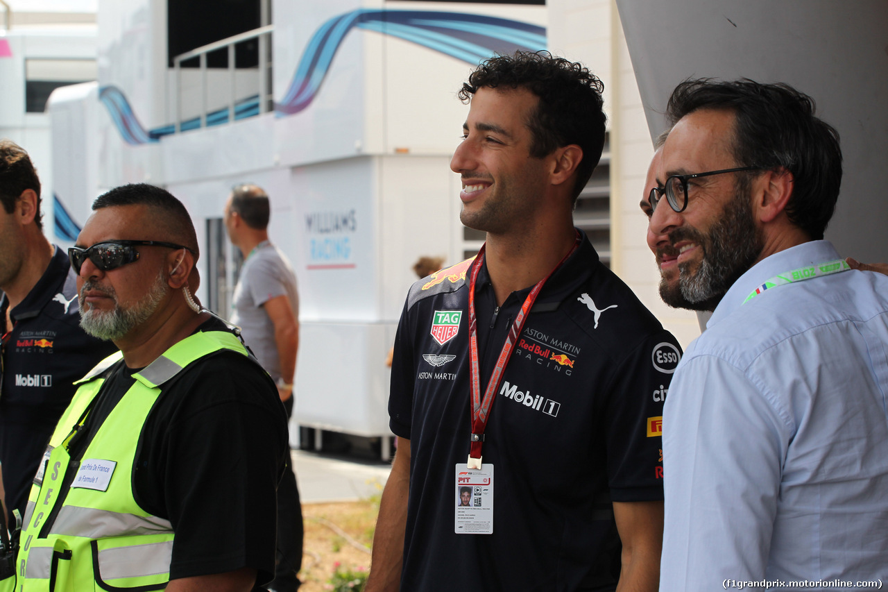 GP FRANCIA, 23.06.2018- Daniel Ricciardo (AUS) Red Bull Racing RB14