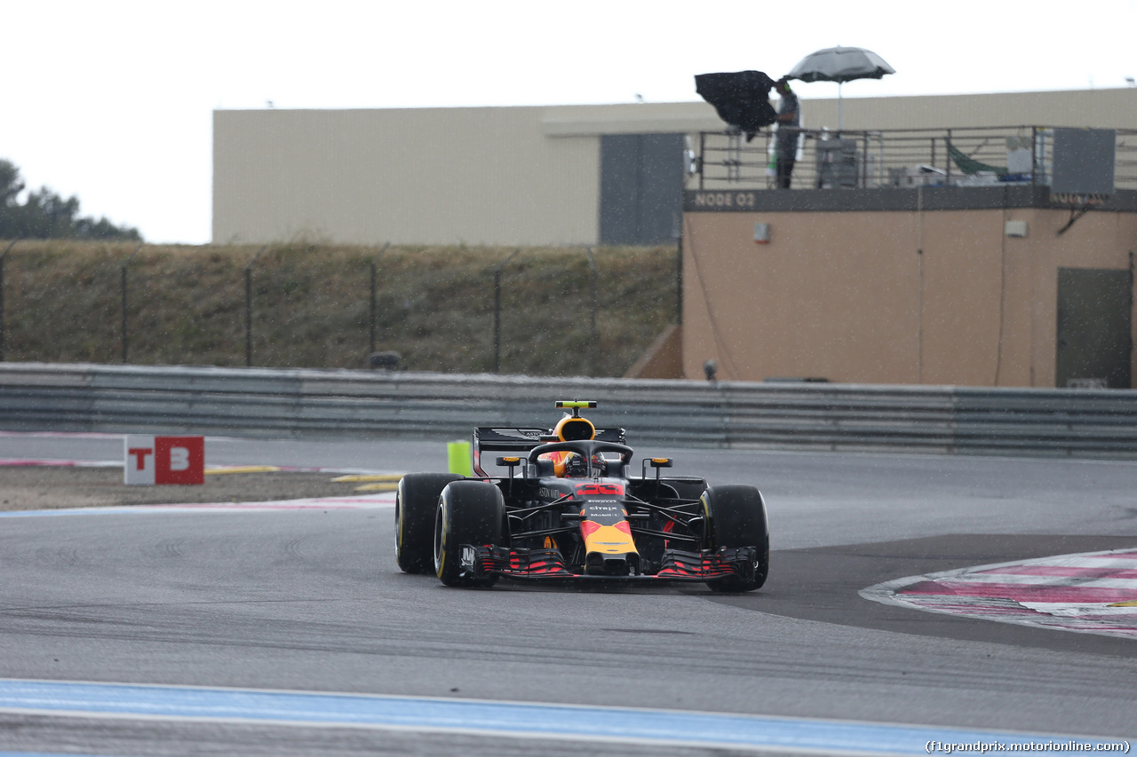 GP FRANCIA, 23.06.2018- Prove Libere 3,  Max Verstappen (NED) Red Bull Racing RB14