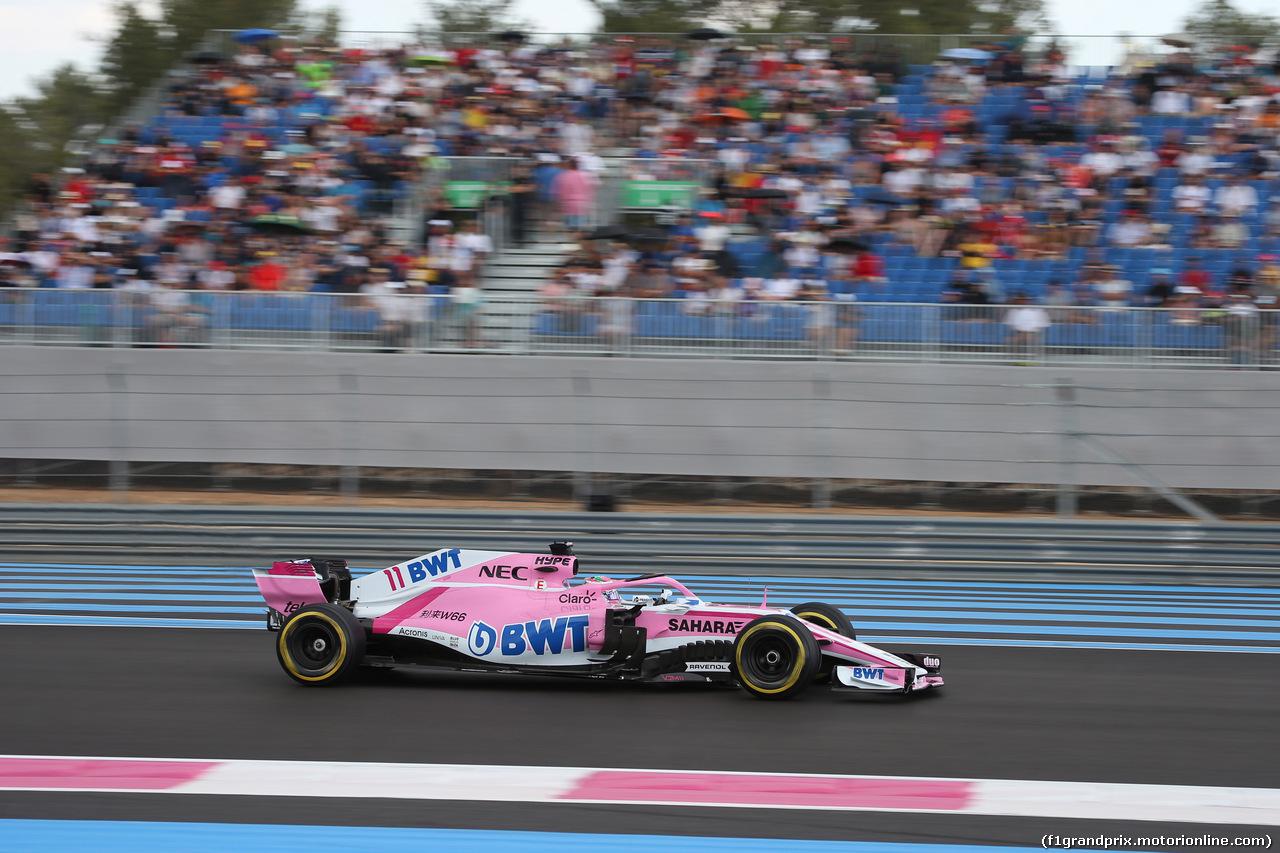GP FRANCIA, 23.06.2018- Prove Libere 3,  Sergio Perez (MEX) Sahara Force India F1 VJM11