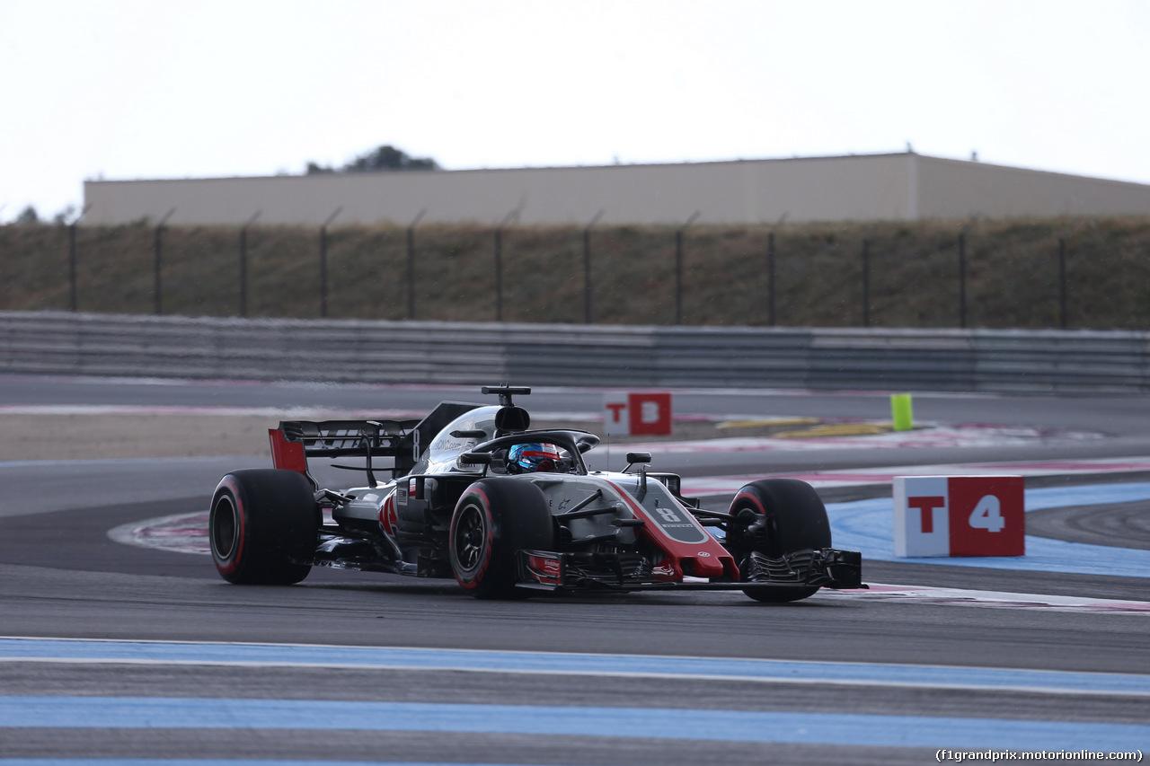 GP FRANCIA, 23.06.2018- Prove Libere 3,  Romain Grosjean (FRA) Haas F1 Team VF-18