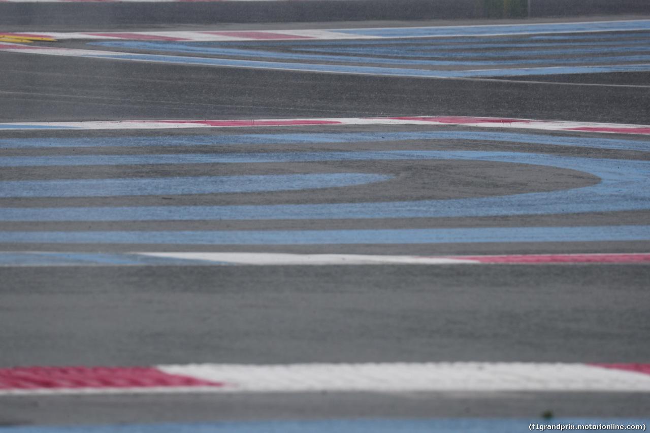 GP FRANCIA, 23.06.2018- Prove Libere 3,  rain over the track