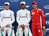 GP FRANCIA, 23.06.2018- Qualifiche celebration: Pole Position Lewis Hamilton (GBR) Mercedes AMG F1 W09 , 2nd place Valtteri Bottas (FIN) Mercedes AMG F1 W09, 3rd place Sebastian Vettel (GER) Ferrari SF71H