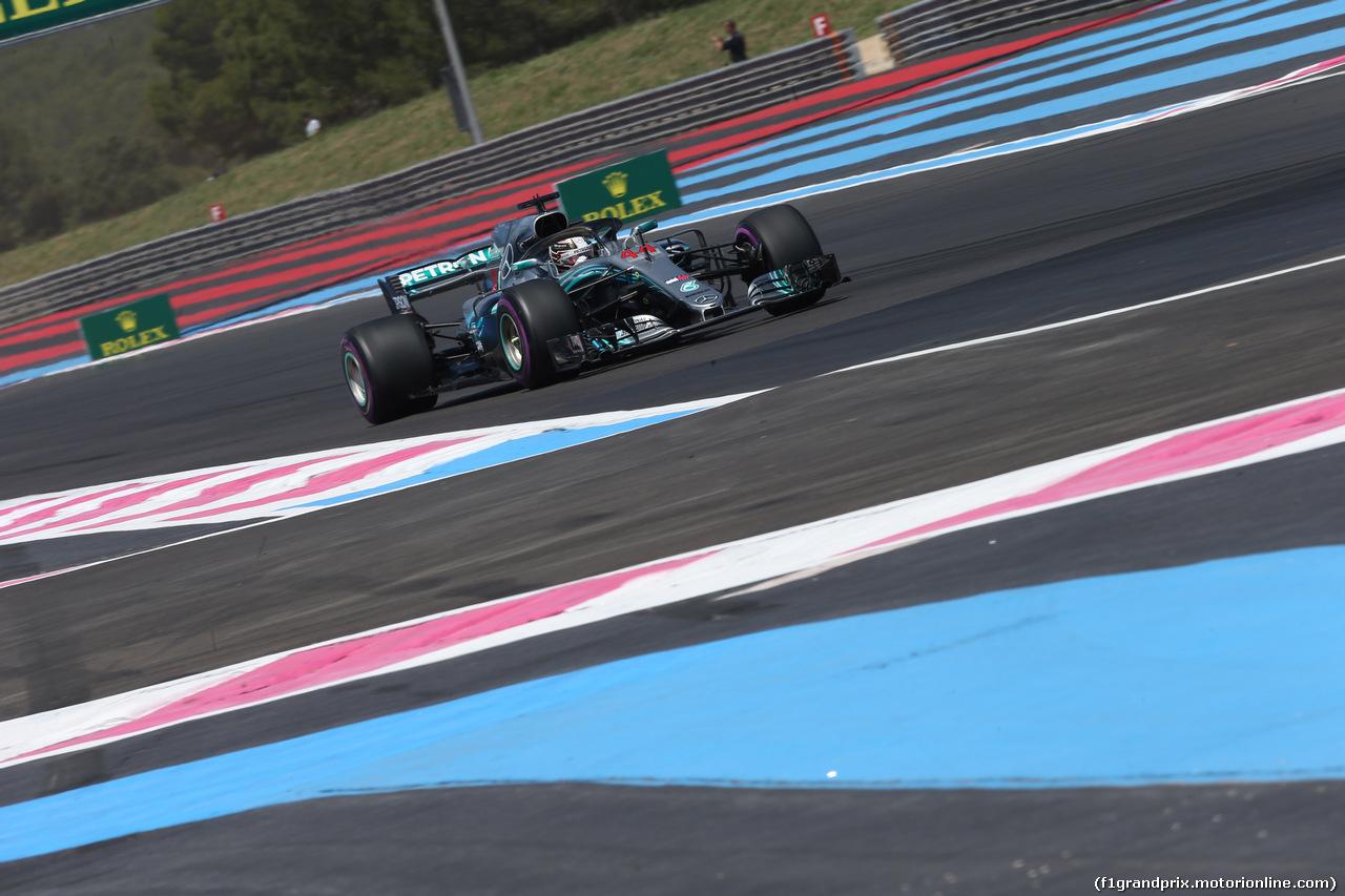 GP FRANCIA, 22.06.2018- Prove Libere 1, Lewis Hamilton (GBR) Mercedes AMG F1 W09