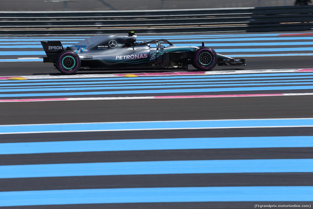 GP FRANCIA, 22.06.2018- Prove Libere 1, Valtteri Bottas (FIN) Mercedes AMG F1 W09