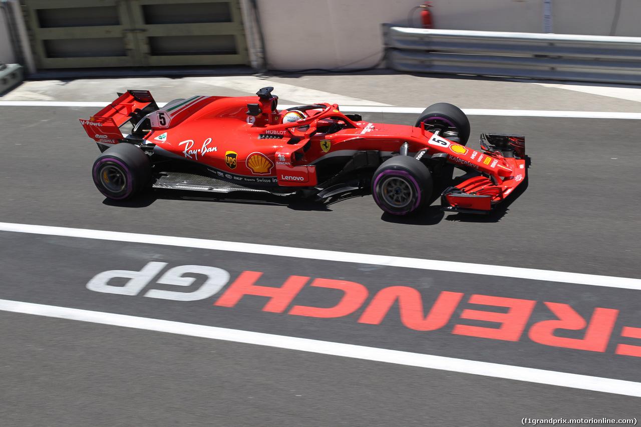 GP FRANCIA, 22.06.2018- Prove Libere 1, Sebastian Vettel (GER) Ferrari SF71H