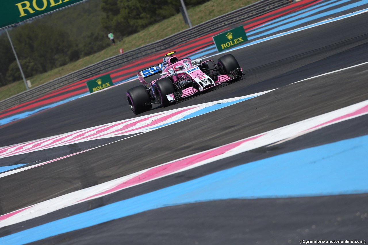 GP FRANCIA, 22.06.2018- Prove Libere 1, Esteban Ocon (FRA) Sahara Force India F1 VJM11