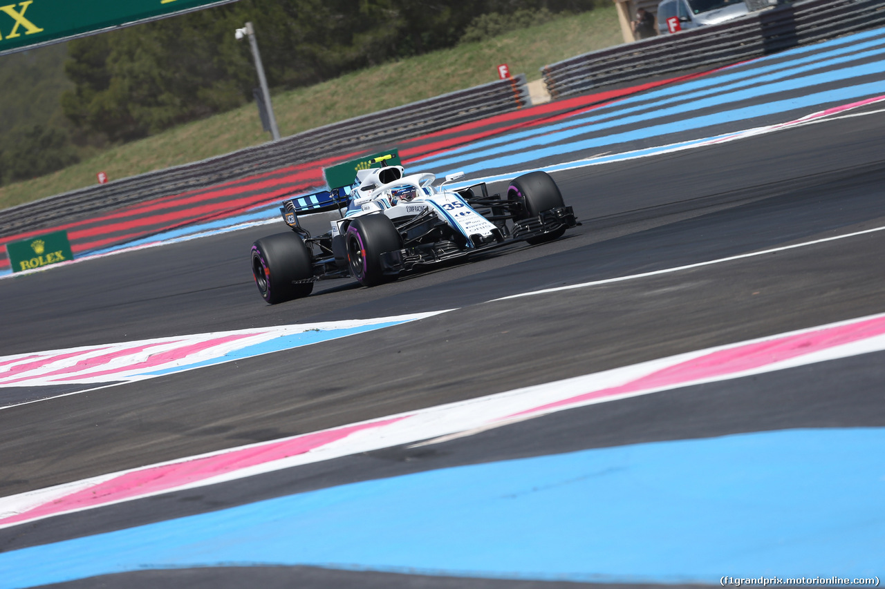 GP FRANCIA, 22.06.2018- Prove Libere 1, Sergej Sirotkin (RUS) Williams F1 Team FW41