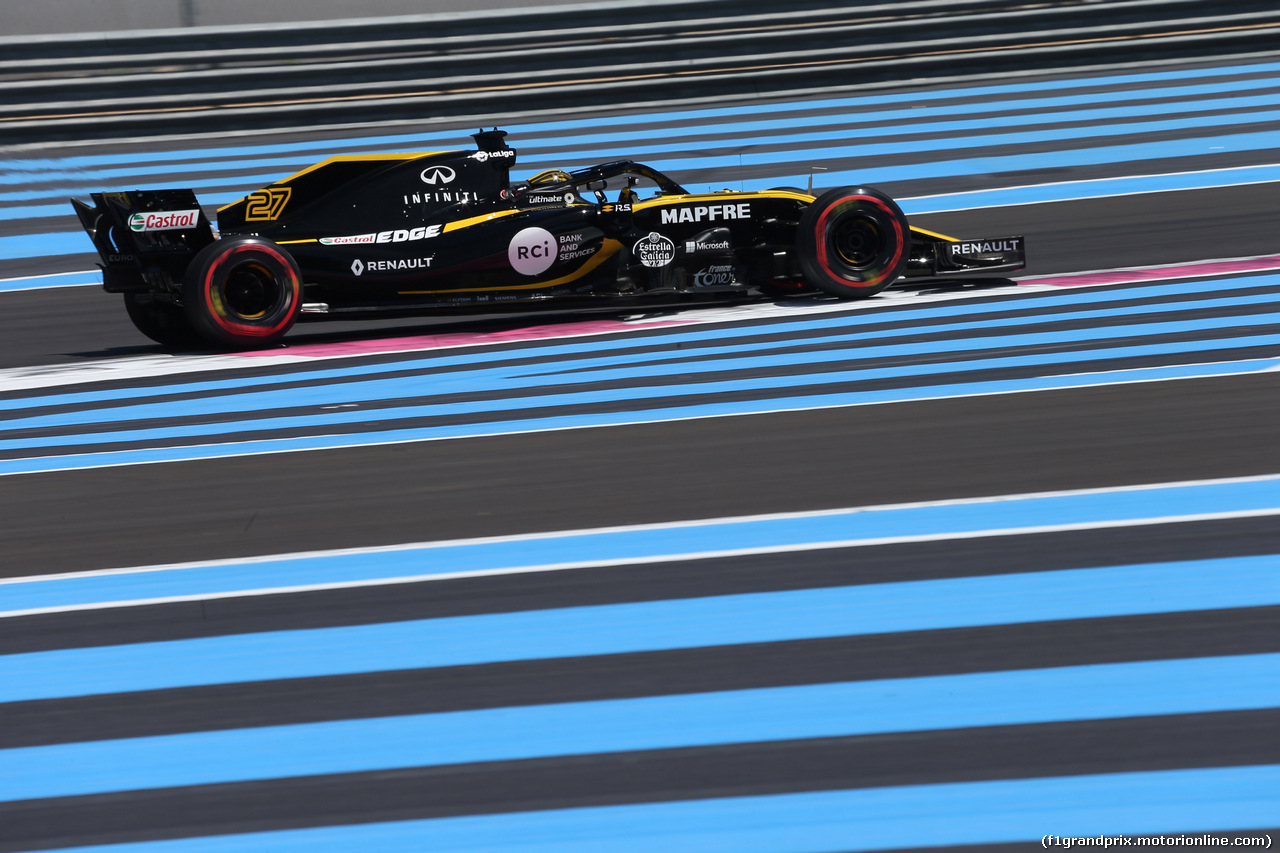 GP FRANCIA, 22.06.2018- Prove Libere 1, Nico Hulkenberg (GER) Renault Sport F1 Team RS18
