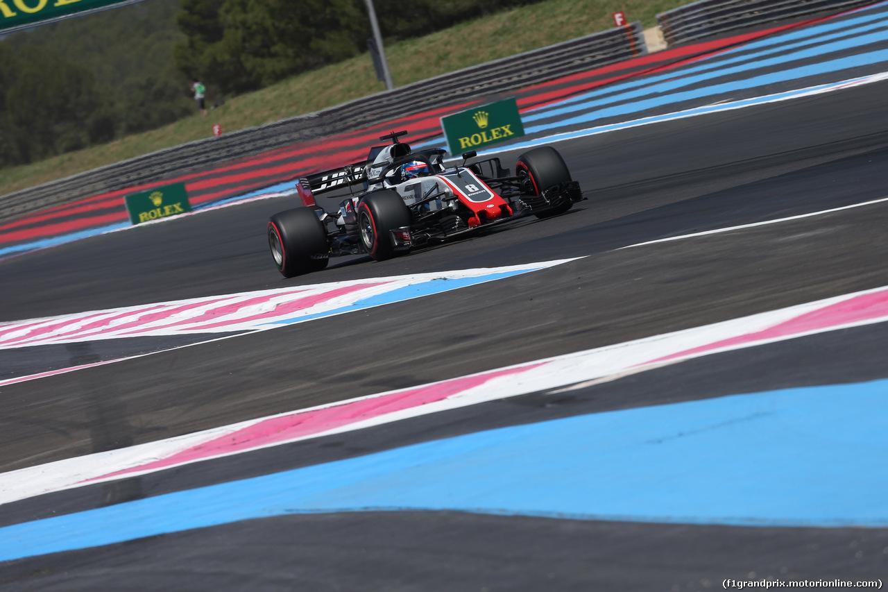 GP FRANCIA, 22.06.2018- Prove Libere 1, Romain Grosjean (FRA) Haas F1 Team VF-18