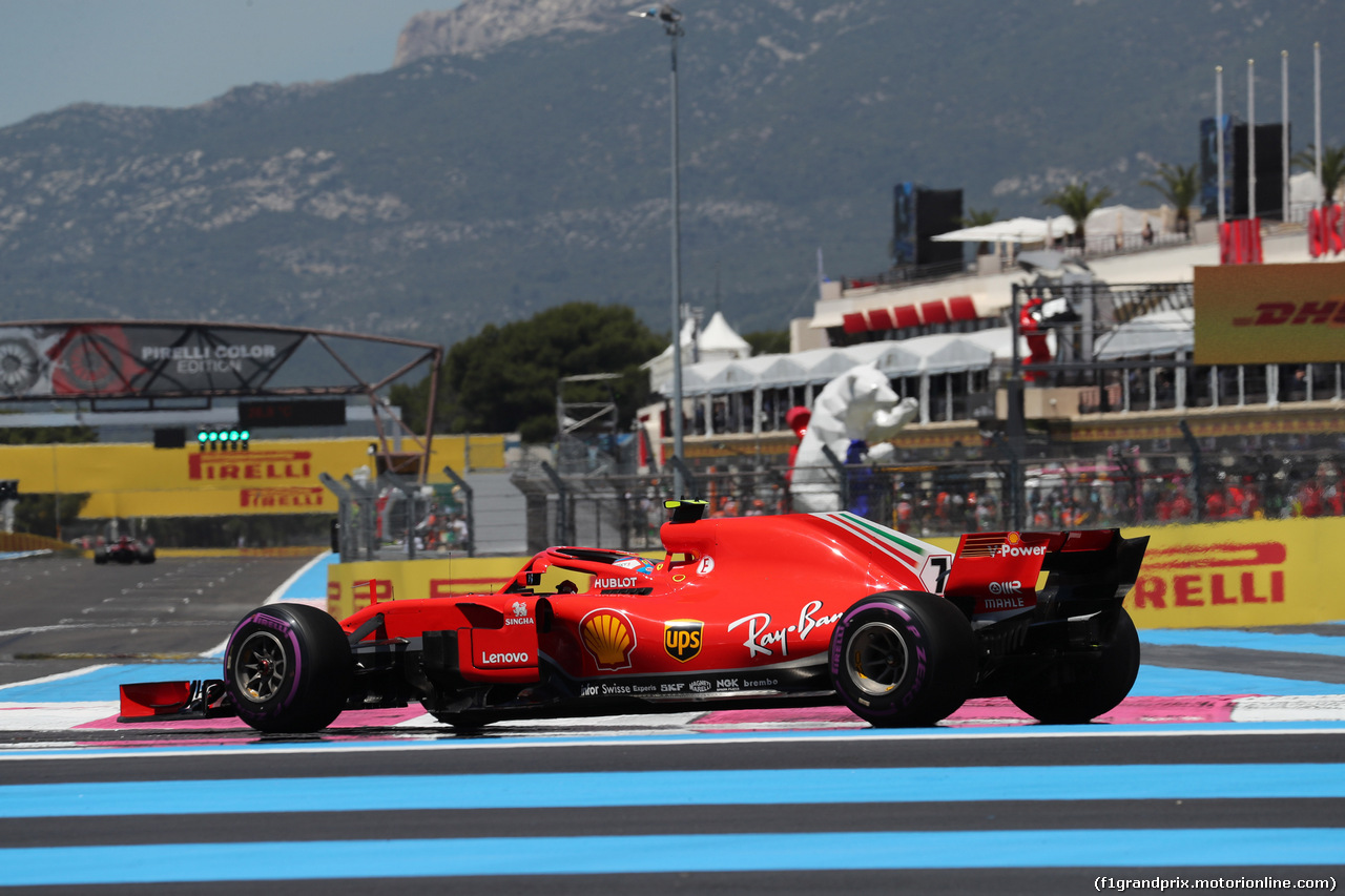 GP FRANCIA, 22.06.2018- Prove Libere 1, Kimi Raikkonen (FIN) Ferrari SF71H
