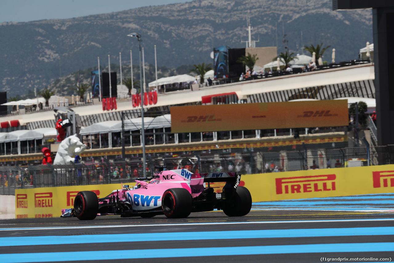 GP FRANCIA, 22.06.2018- Prove Libere 1, Sergio Perez (MEX) Sahara Force India F1 VJM11