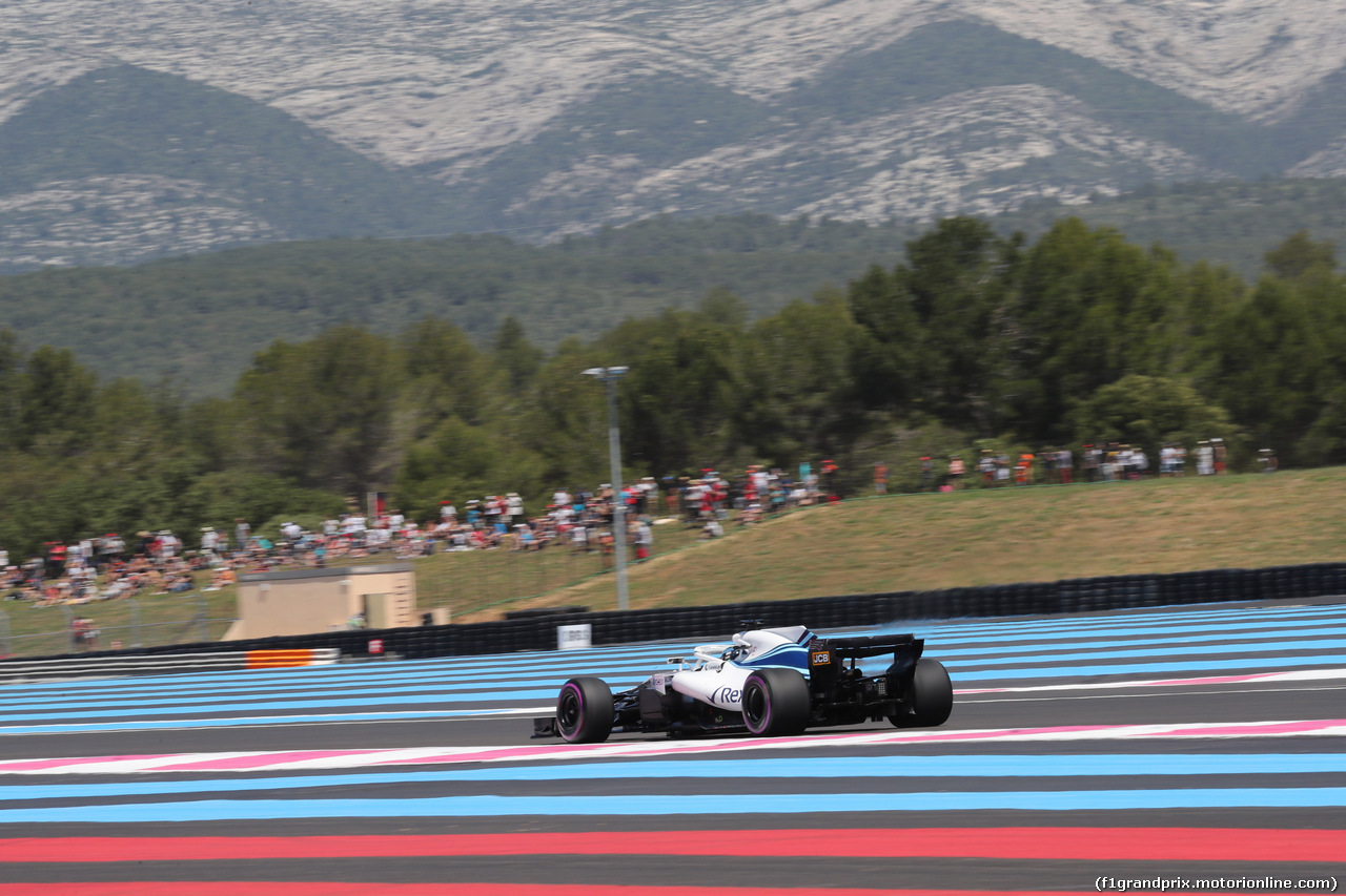 GP FRANCIA, 22.06.2018- Prove Libere 1, Lance Stroll (CDN) Williams FW41