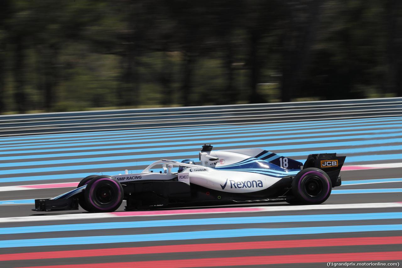 GP FRANCIA, 22.06.2018- Prove Libere 1, Lance Stroll (CDN) Williams FW41