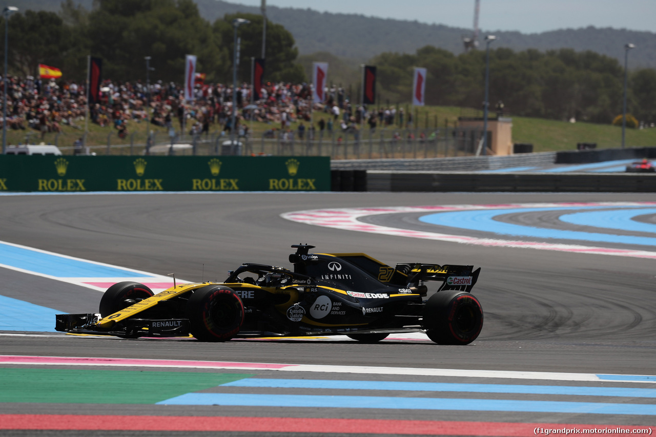 GP FRANCIA, 22.06.2018- Prove Libere 1, Nico Hulkenberg (GER) Renault Sport F1 Team RS18