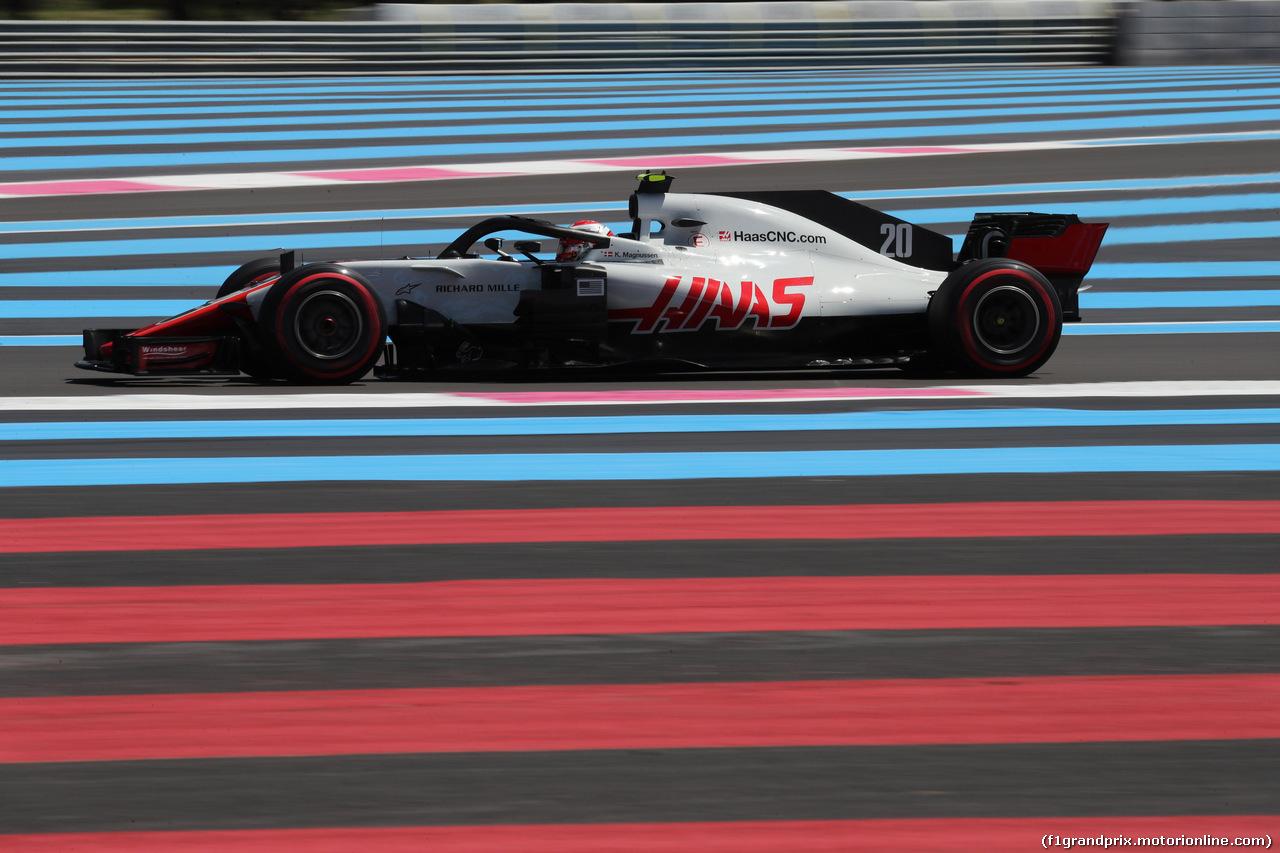 GP FRANCIA, 22.06.2018- Prove Libere 1, Kevin Magnussen (DEN) Haas F1 Team VF-18