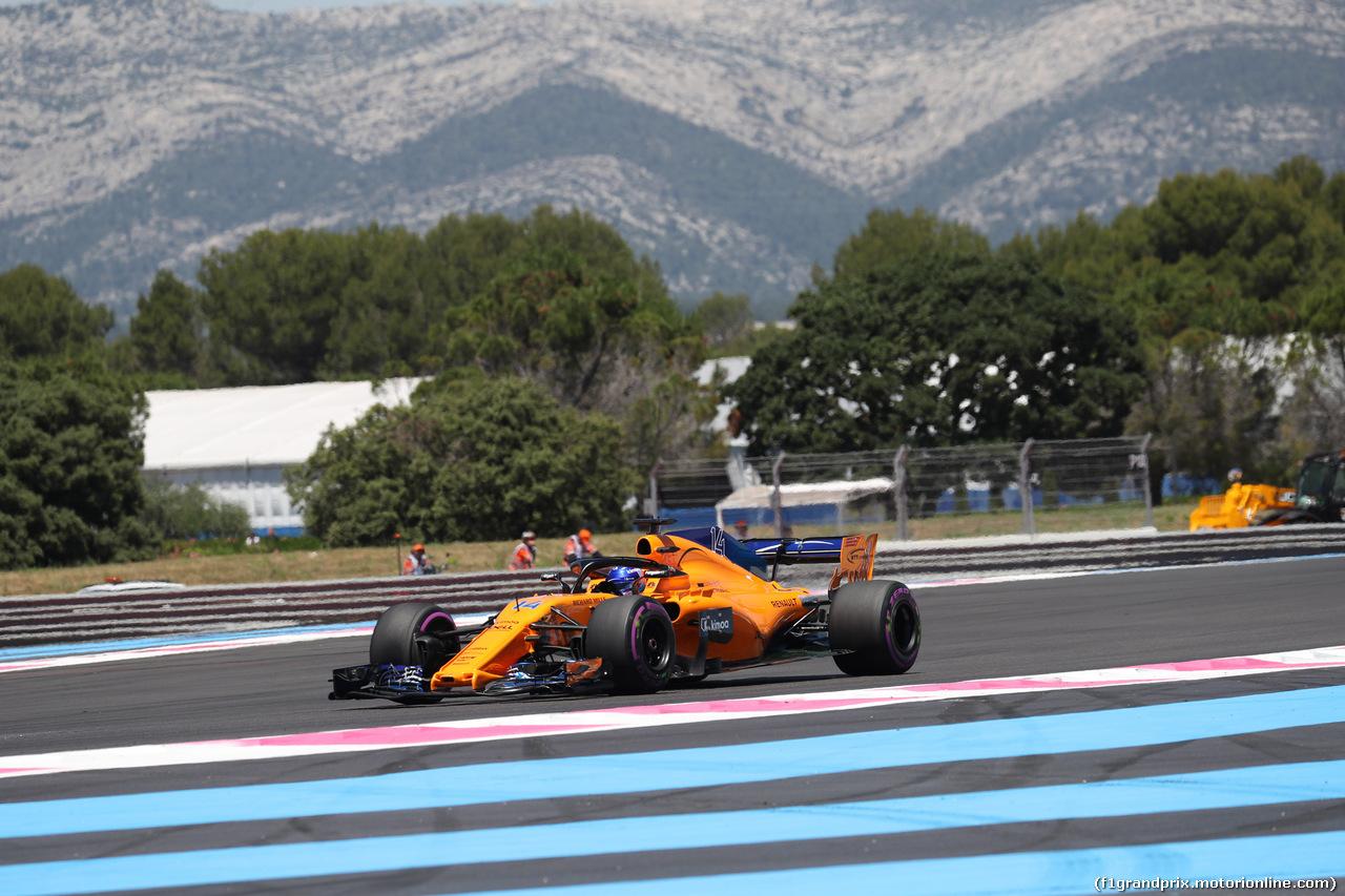 GP FRANCIA, 22.06.2018- Prove Libere 1, Fernando Alonso (ESP) McLaren Renault MCL33