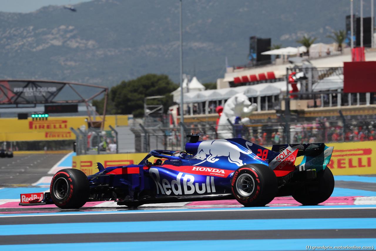 GP FRANCIA, 22.06.2018- Prove Libere 1, Brendon Hartley (FRA) Scuderia Toro Rosso STR13