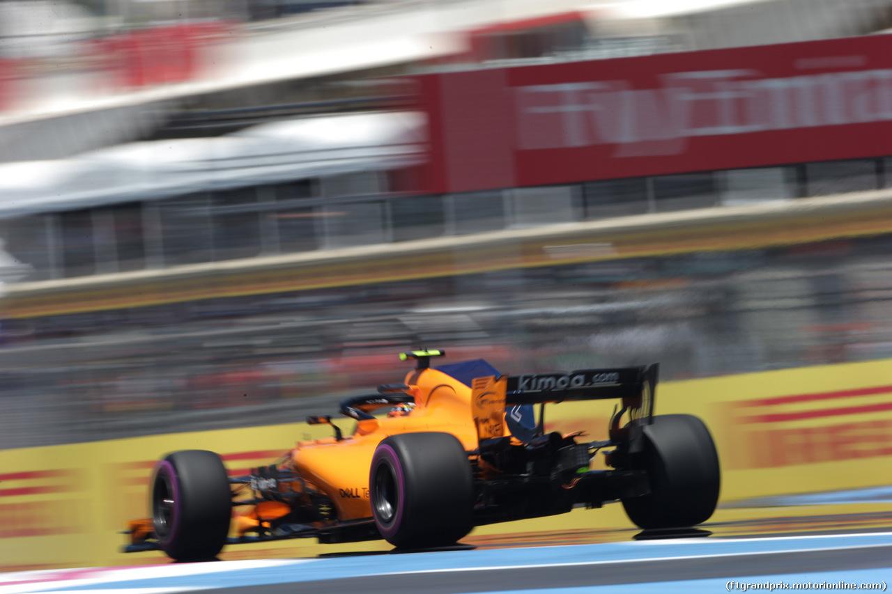 GP FRANCIA, 22.06.2018- Prove Libere 1, Stoffel Vandoorne (BEL) McLaren MCL33