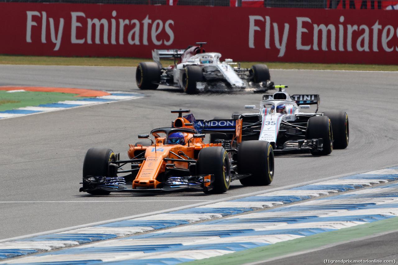 GP GERMANIA, 22.07.2018 - Gara, Fernando Alonso (ESP) McLaren MCL33 e Sergey Sirotkin (RUS) Williams FW41